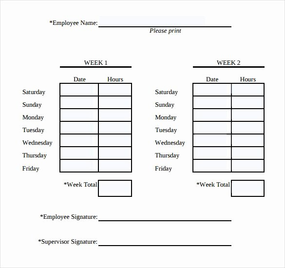 Free Time Card Template Inspirational Simple Weekly Timesheet