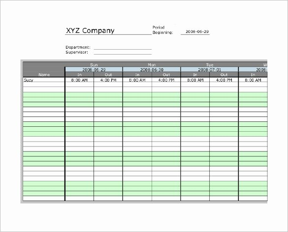 Free Time Card Template Lovely 7 Printable Time Card Templates Doc Excel Pdf