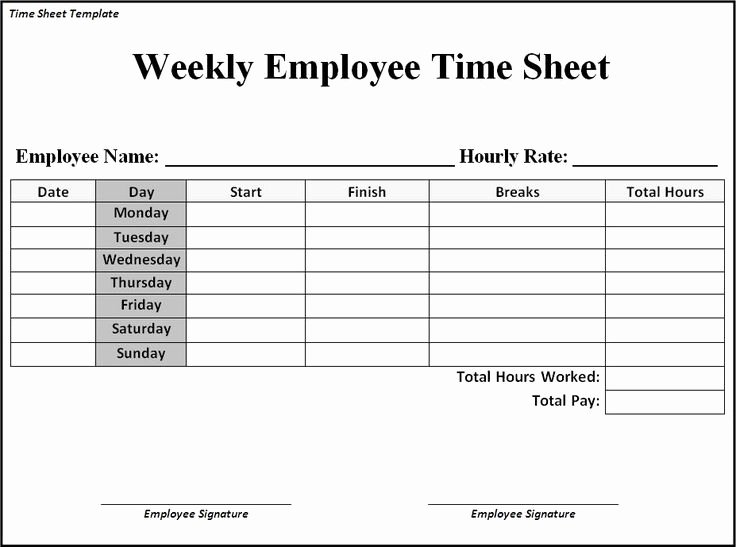 Free Time Card Template Lovely Time Sheet Template Google Search Business