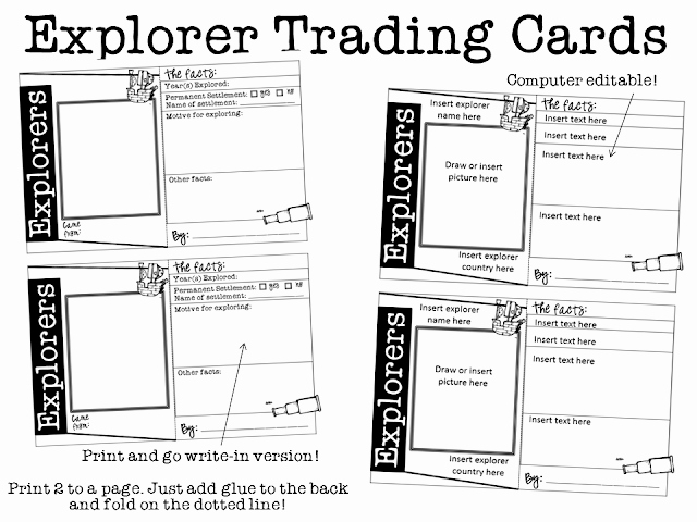 Free Trading Card Template Awesome Ginger Snaps Explorers Trading Cards