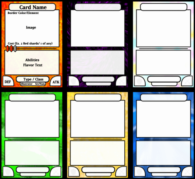 Free Trading Card Template Best Of Trading Card Game Template Free Download Printable