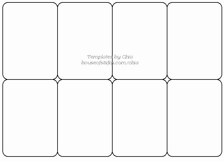 Free Trading Card Template Fresh Templete for Playing Cards Artist Trading Cards