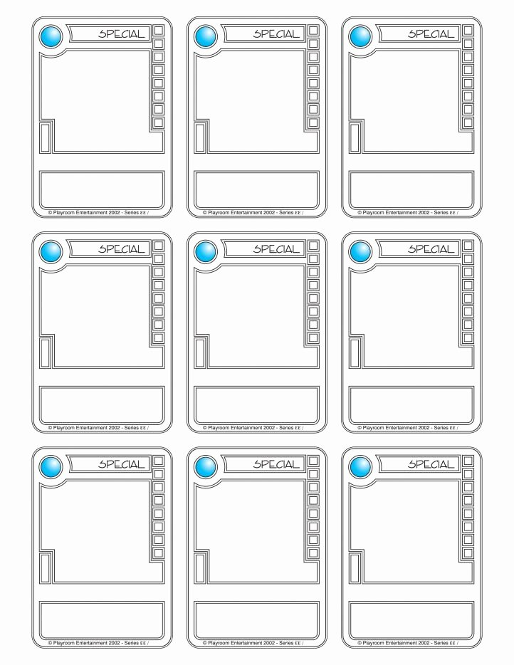 Free Trading Card Template New Trading Card Template