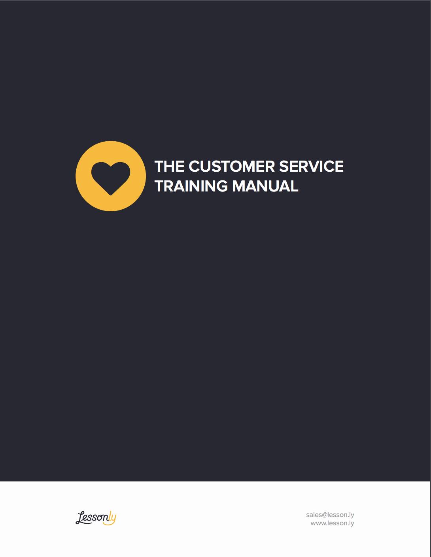 Free Training Manual Template Fresh Free Customer Service Training Manual Template Lessonly