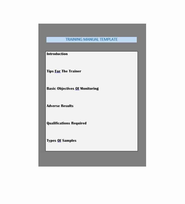 Free Training Manual Template Inspirational Training Manual 40 Free Templates & Examples In Ms Word