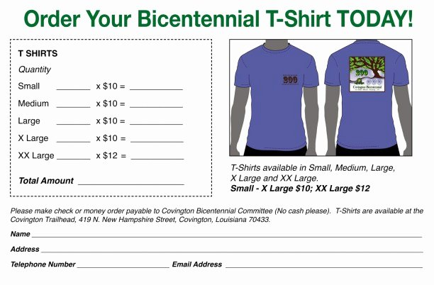 Free Tshirt order form Template Elegant Printable T Shirt order forms Templates