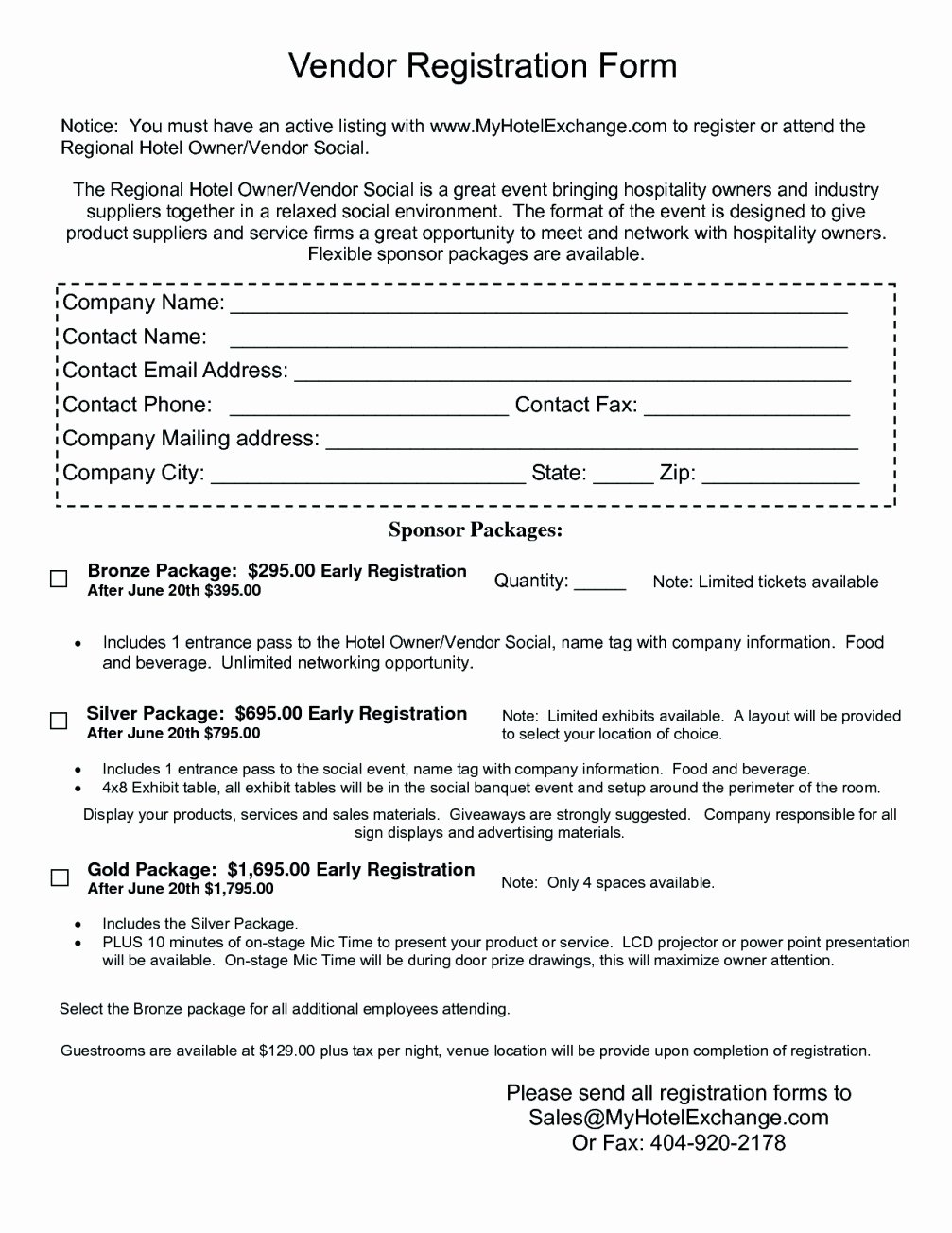 Free Vendor Application form Template Best Of Free Vendor Registration form Template Template