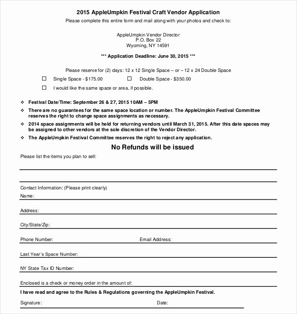 Free Vendor Application form Template Fresh Vendor Application Template – 9 Free Word Pdf Documents