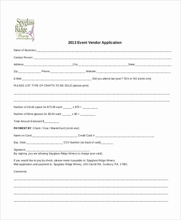 Free Vendor Application form Template New 41 Application Templates In Pdf