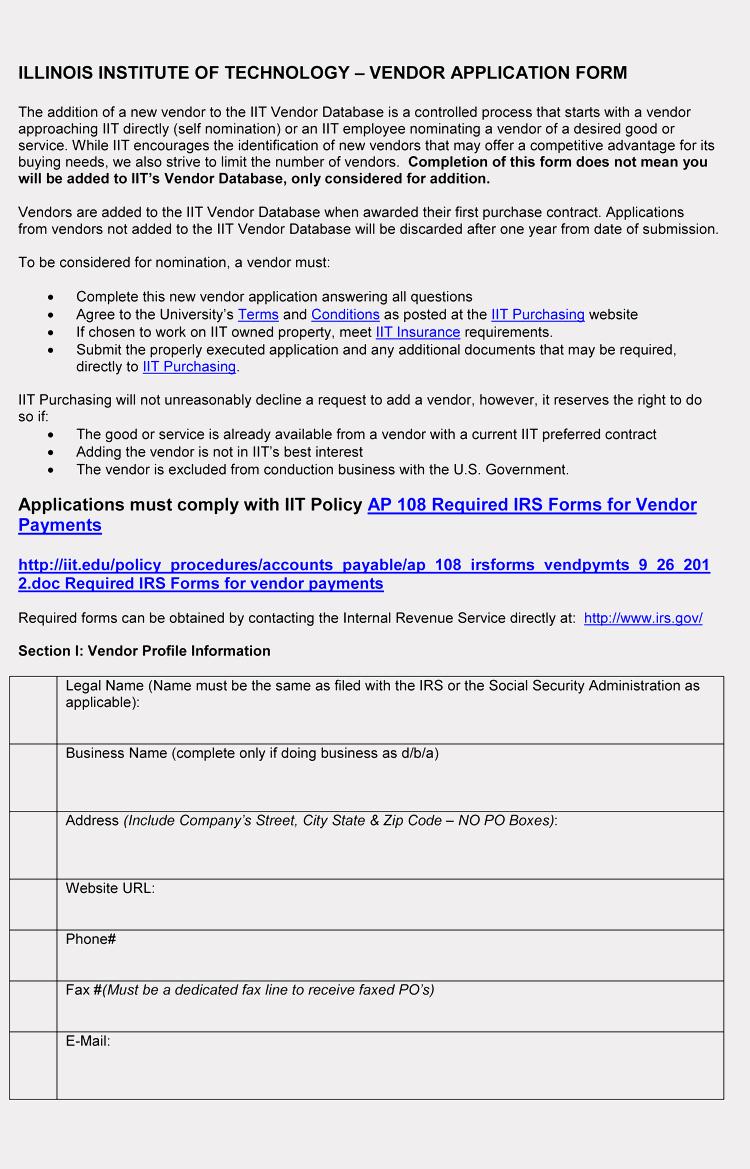 Free Vendor Application form Template New 9 Printable Blank Vendor Registration form Templates for