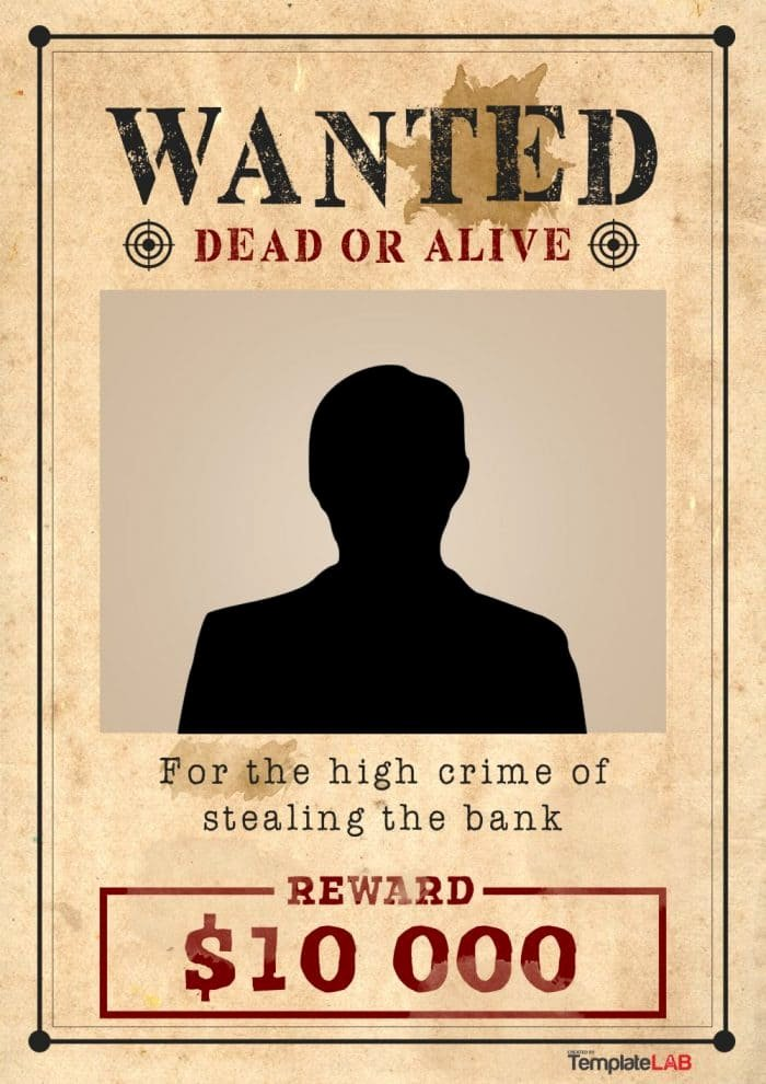 Free Wanted Poster Template Printable Awesome 29 Free Wanted Poster Templates Fbi and Old West
