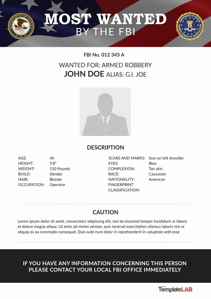 Free Wanted Poster Template Printable Beautiful 29 Free Wanted Poster Templates Fbi and Old West