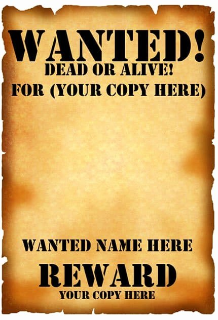 Free Wanted Poster Template Printable Best Of 7 Free Wanted Poster Templates Pdf Word