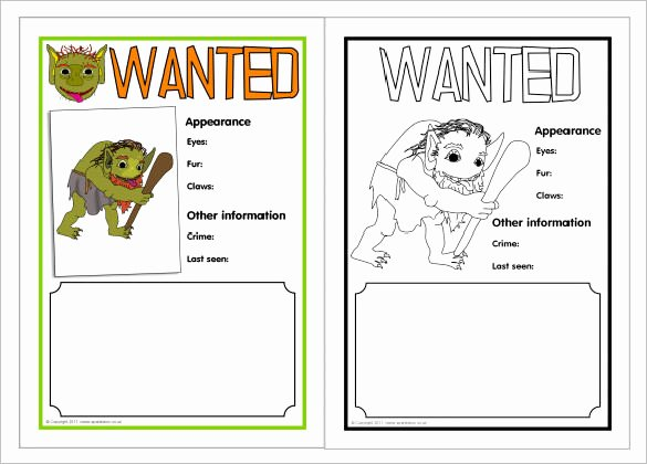 Free Wanted Poster Template Printable Best Of Editable Wanted Poster Calendar June