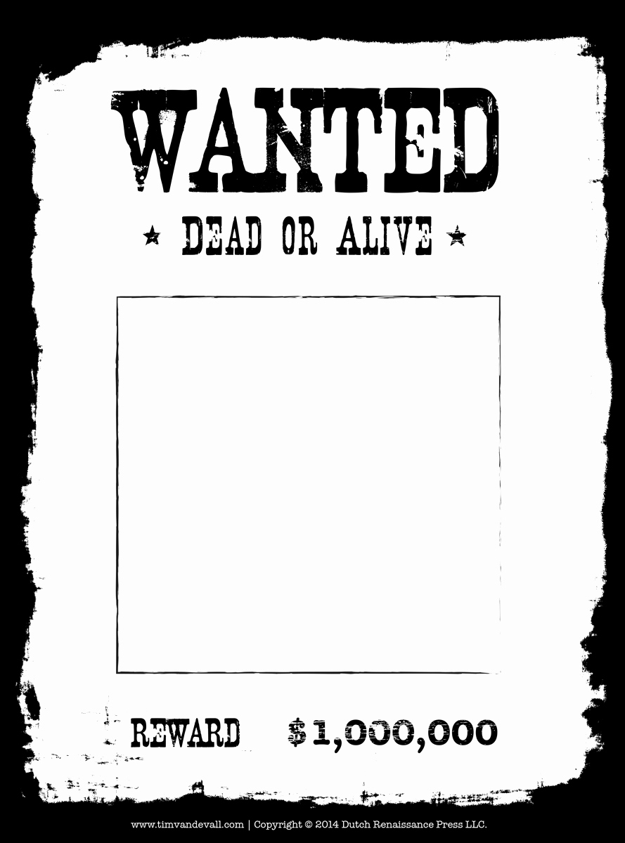 Free Wanted Poster Template Printable Elegant Tim Van De Vall Ics & Printables for Kids