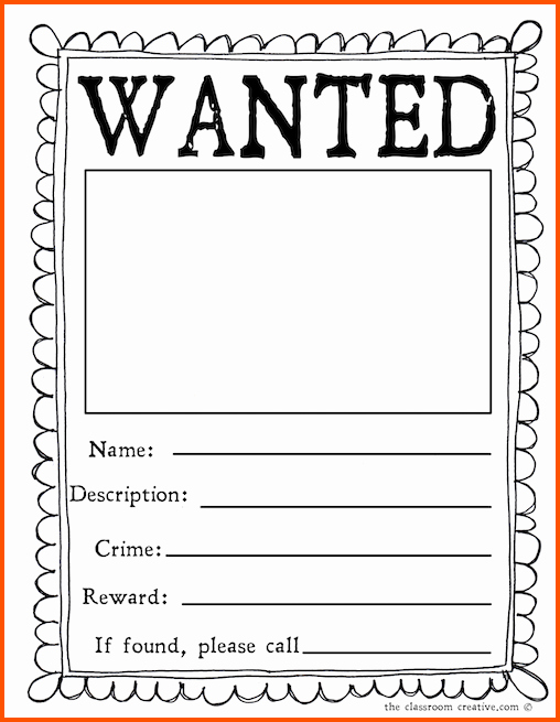 Free Wanted Poster Template Printable Inspirational Free Wanted Poster Template Printable 6 Wanted Poster