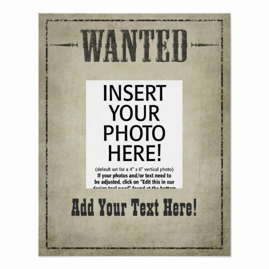 Free Wanted Poster Template Printable Inspirational Wanted Poster Template