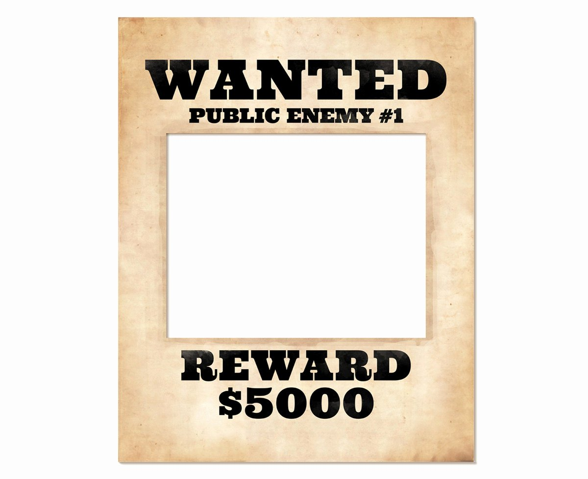 Free Wanted Poster Template Printable Luxury Booth Frame Prop Printable Wanted Poster Wanted
