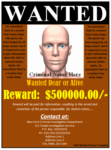 Free Wanted Poster Template Printable New 7 Free Wanted Poster Templates Pdf Word