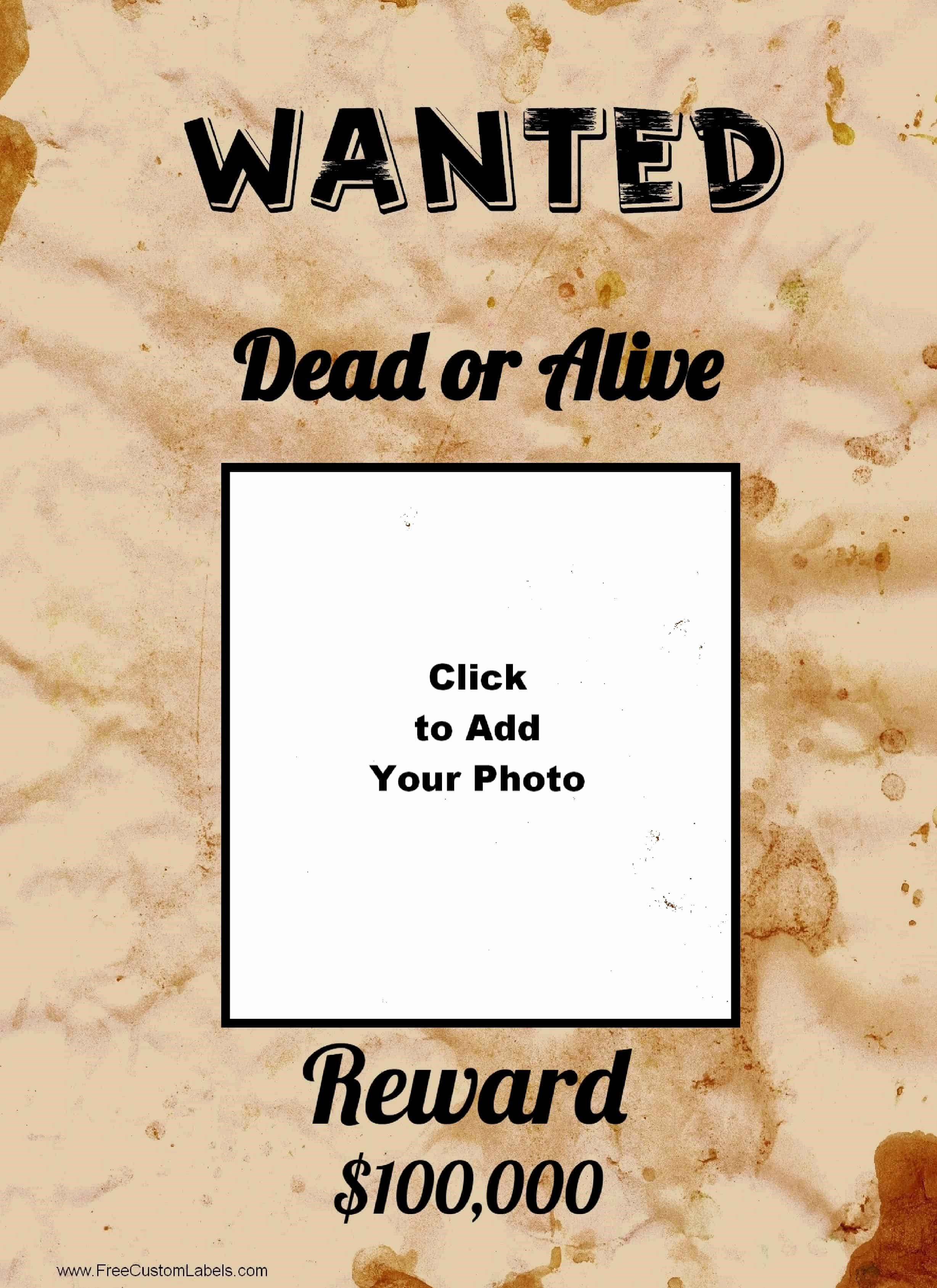 Free Wanted Poster Template Printable New Free Wanted Poster Maker