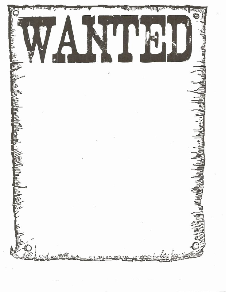 Free Wanted Poster Template Printable New Free Wanted Poster Template Google Search