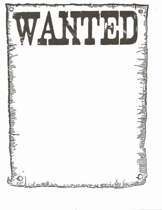 Free Wanted Poster Template Printable Unique Wanted Poster