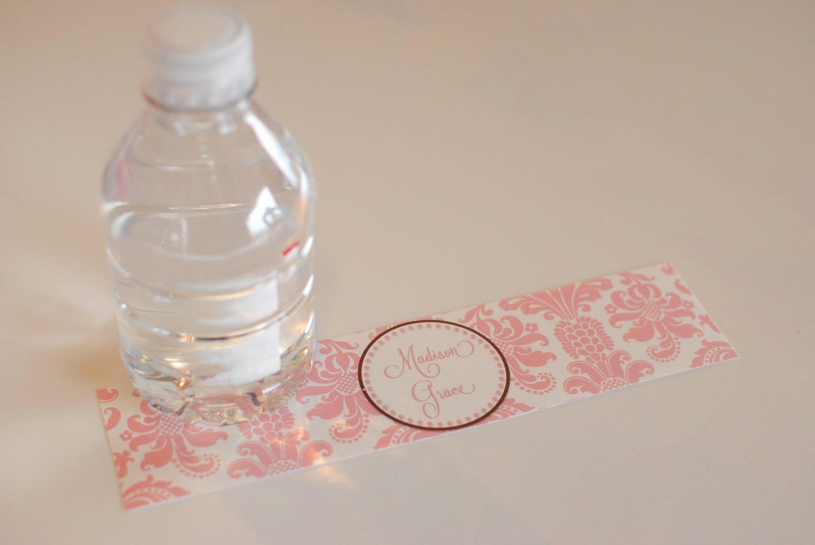 Free Water Bottle Label Template Beautiful Water Bottle Labels Template