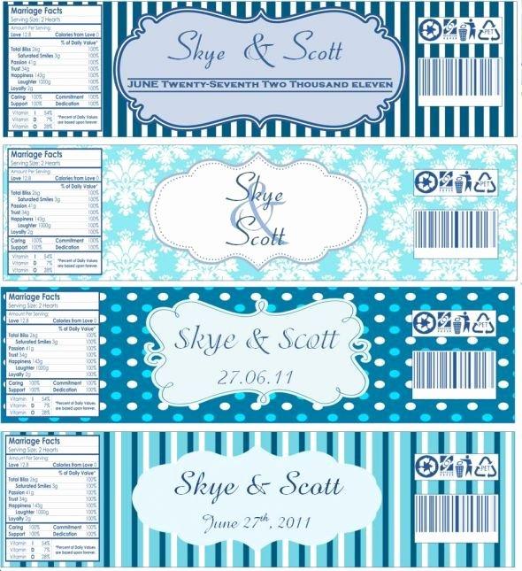 Free Water Bottle Label Template Elegant Water Bottle Labels now with Templates Wedding Water