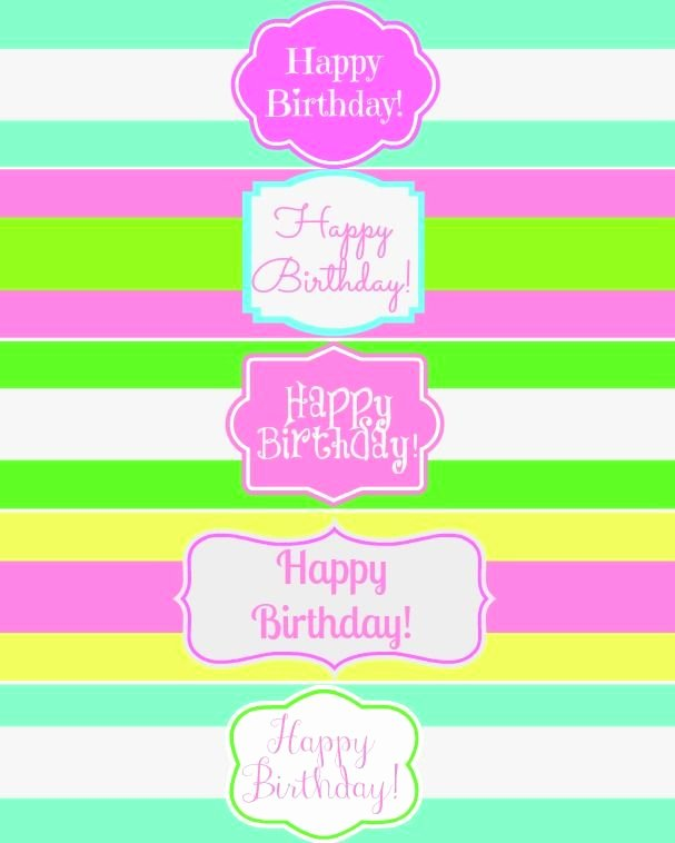 Free Water Bottle Label Template Inspirational Free Printable Happy Birthday Water Bottle Label Wraps