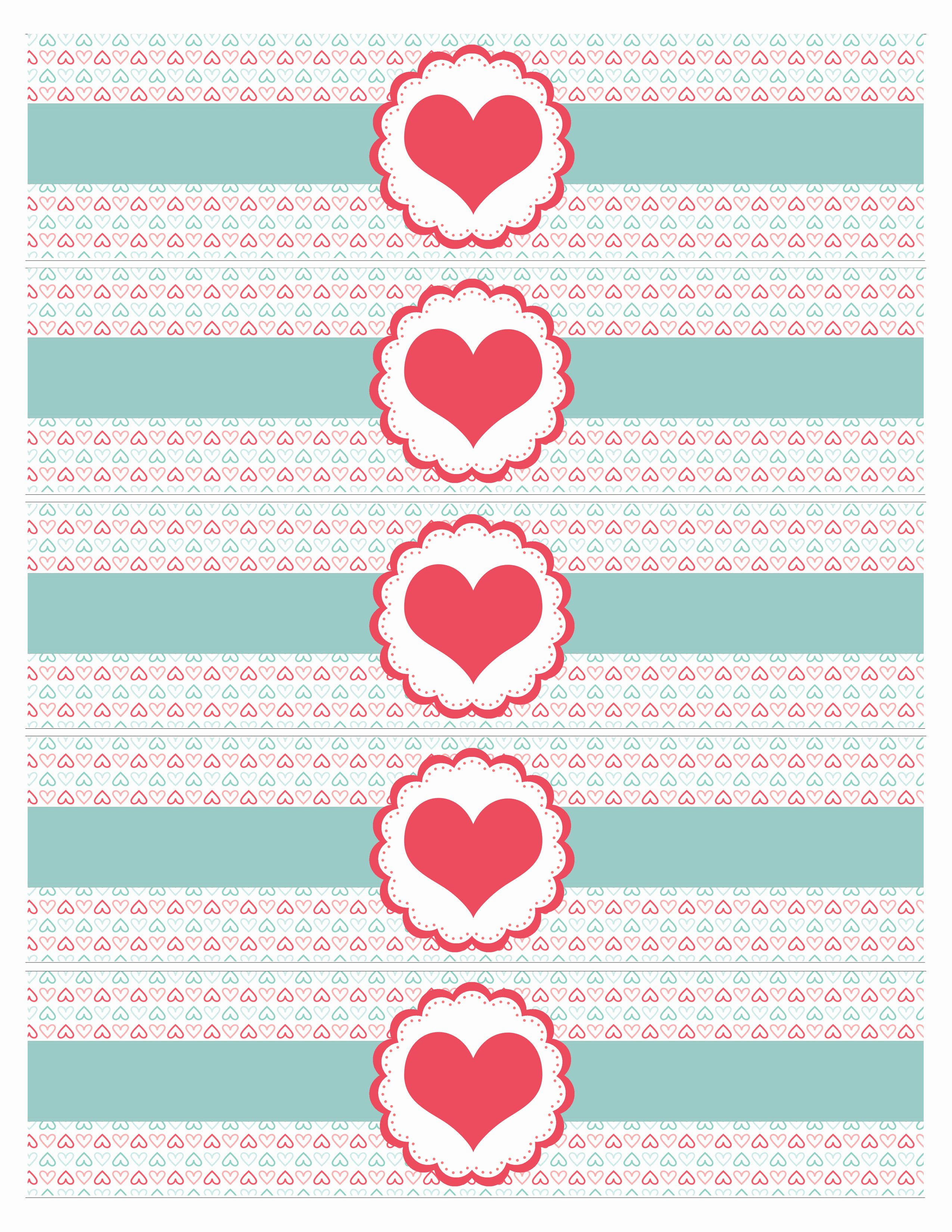 Free Water Bottle Label Template Inspirational Valentine S Day Party Free Printables How to Nest for Less™