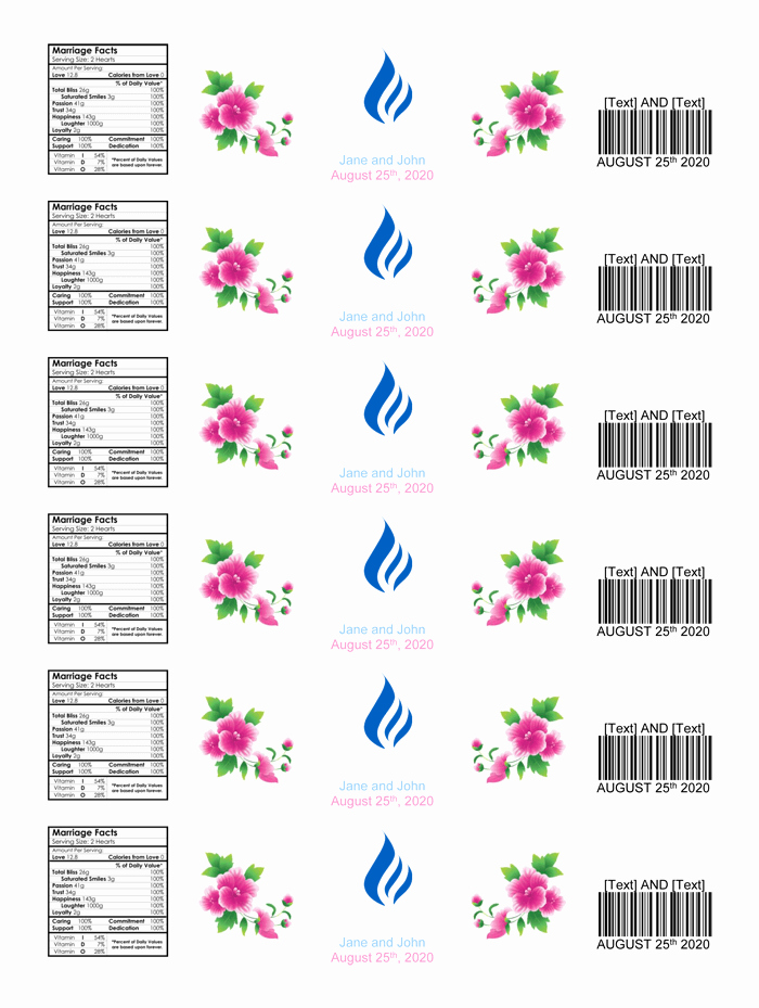 Free Water Bottle Label Template New Water Bottle Label Template Make Personalized Bottle Labels