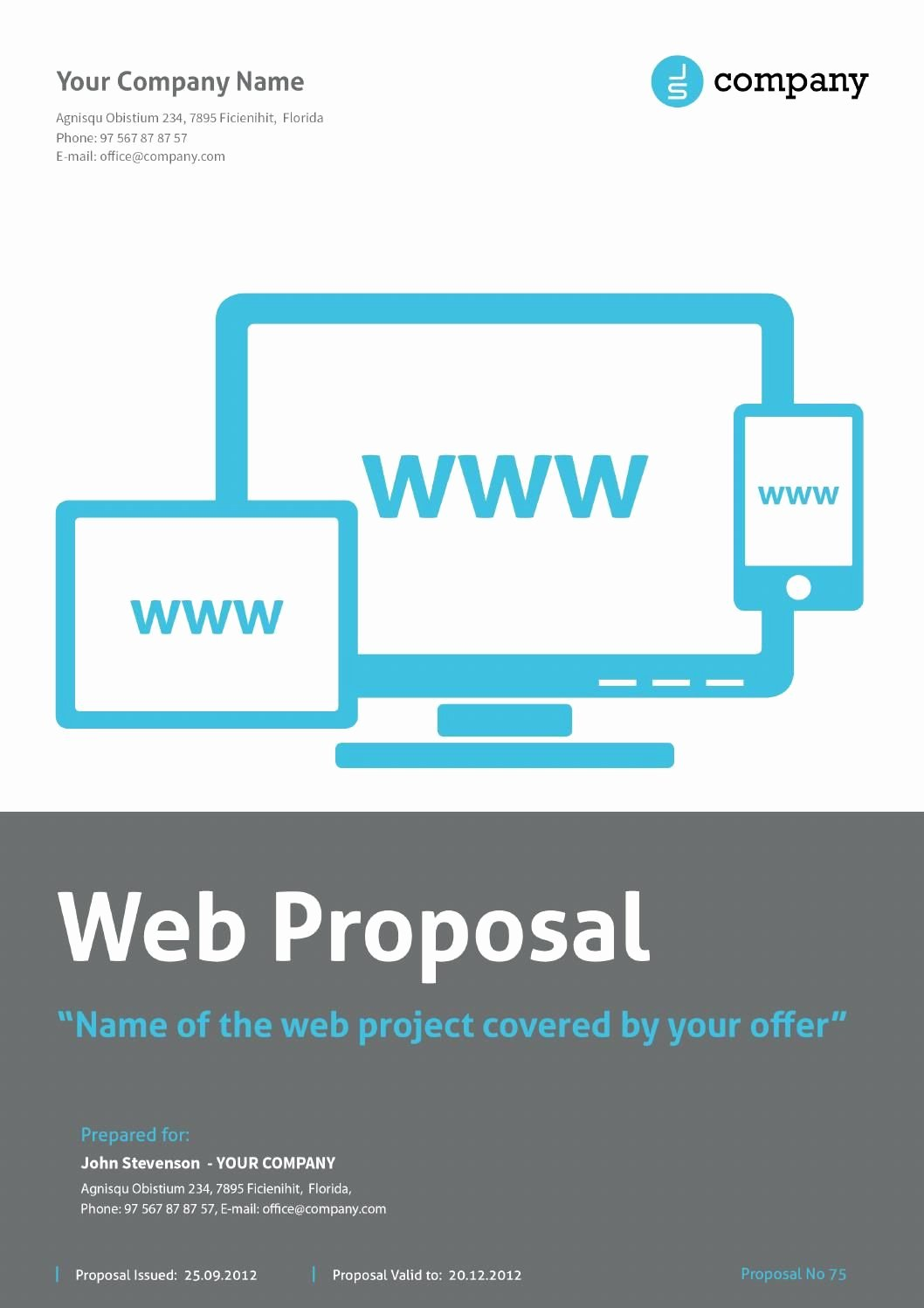 Free Web Design Proposal Template Fresh Web Proposal by Paulnomade Documents