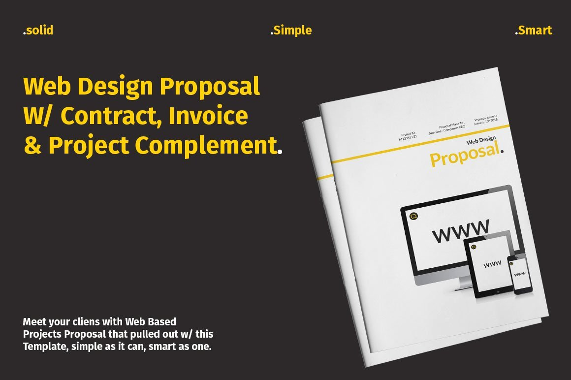 Free Web Design Proposal Template Fresh Website Proposal with Yellow Accent Stationery Templates
