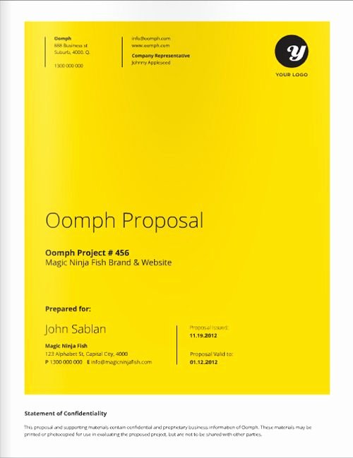 Free Web Design Proposal Template New 12 Best Proposal Covers Images On Pinterest