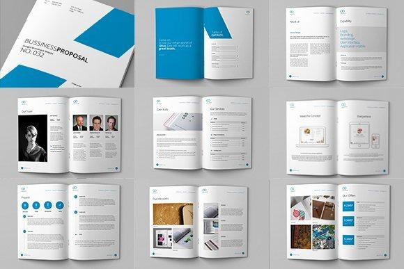 Free Web Design Proposal Template Unique Clean Proposal & Brief Template Brochure Templates