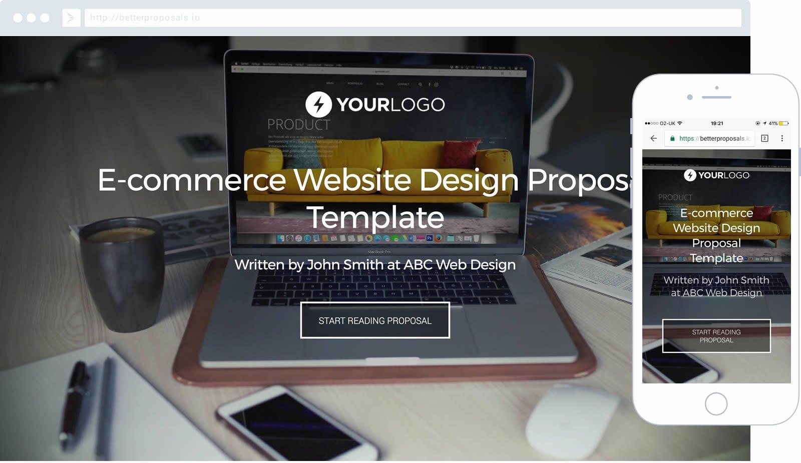 Free Web Design Proposal Template Unique Free E Merce Web Design Proposal Template Better Proposals