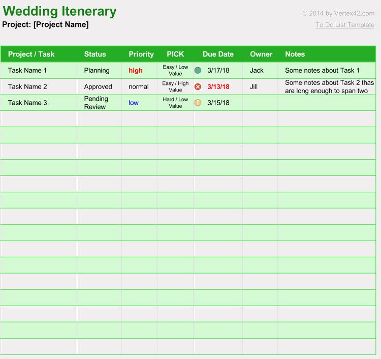 Free Wedding Itinerary Templates Beautiful Free Wedding Itinerary Planner & Guest List Templates