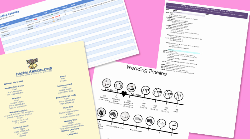 Free Wedding Itinerary Templates Best Of 8 Free Wedding Itinerary Templates and Schedule Templates