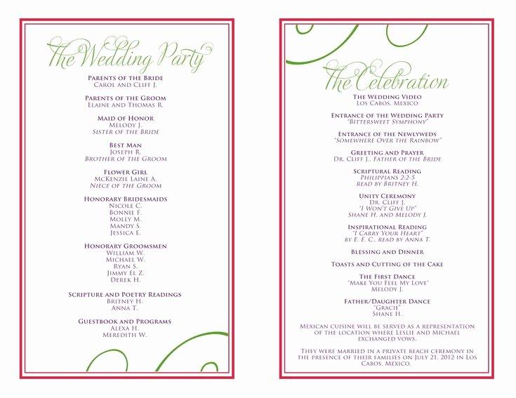 Free Wedding Itinerary Templates Fresh Wedding Itinerary Templates Free