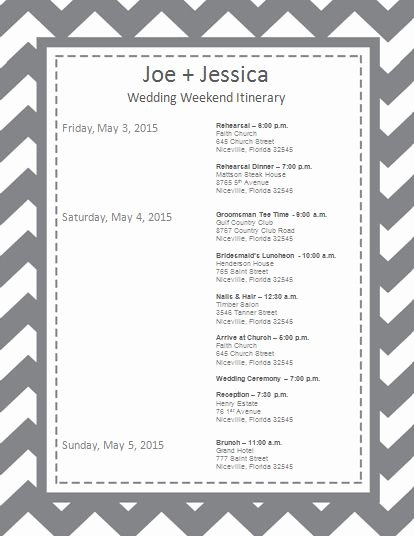 Free Wedding Itinerary Templates Unique Wedding Itineraries Wedding Itinerary Template and
