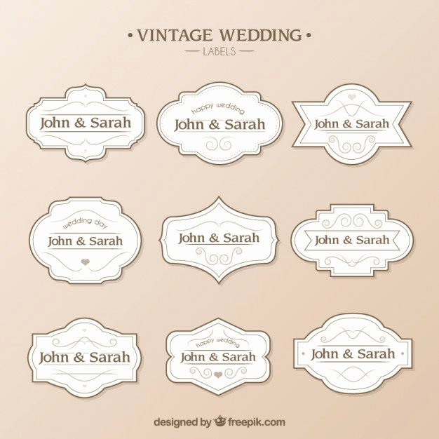 Free Wedding Label Templates Awesome Wedding Labels Template Vector