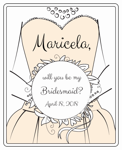 "Free Wedding Label Templates Beautiful ""will You Be My Bridesmaid "" Wine Bottle Labels Label"