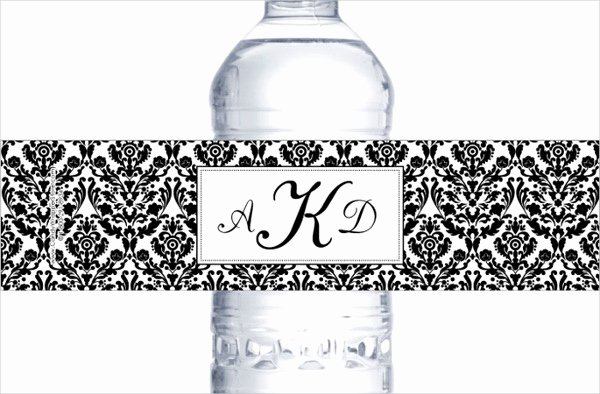 Free Wedding Label Templates Elegant 14 Wedding Water Bottle Label Templates Psd Word Pdf