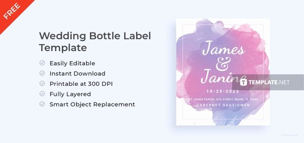 Free Wedding Label Templates Lovely 14 Wedding Water Bottle Label Templates Psd Word Pdf