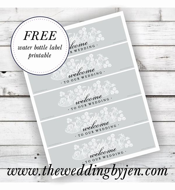 Free Wedding Label Templates New Great Tips On Wedding Wel E Bags and A Free Water Bottle