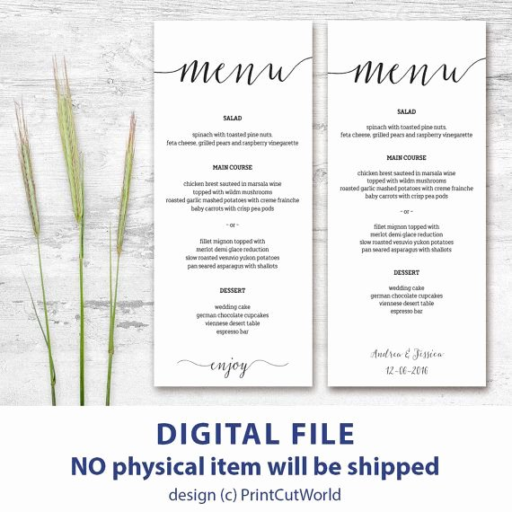 Free Wedding Menu Templates Fresh 46 Best Wedding Menu Templates Images On Pinterest