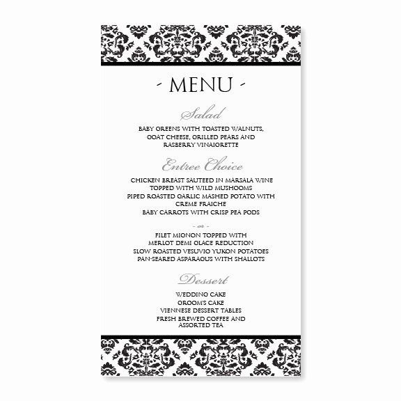 Free Wedding Menu Templates Fresh Vintage Wedding Menu Template Nadine 4 X 7