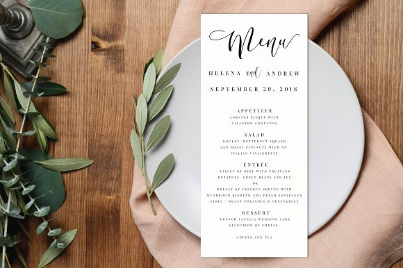 Free Wedding Menu Templates Inspirational Wedding Menu Editable Pdf Invitation Templates