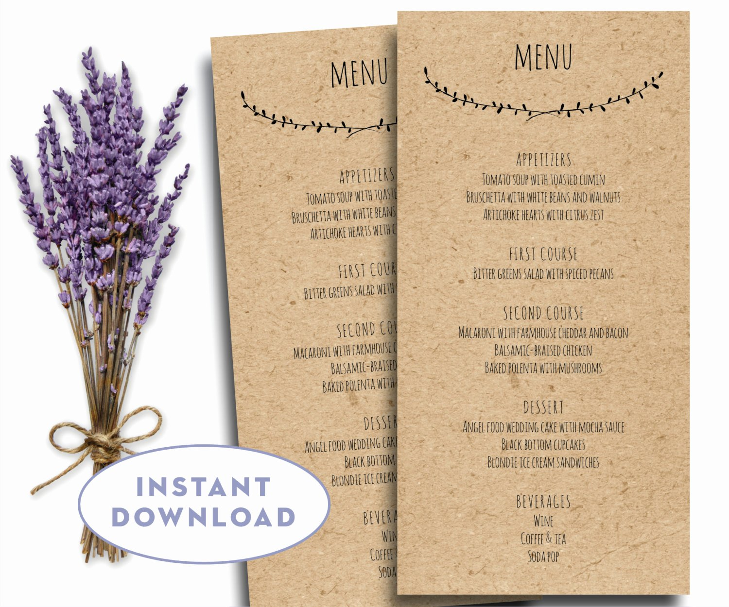Free Wedding Menu Templates Lovely Printable Wedding Menu Template Kraft Menu Template 4 X 8