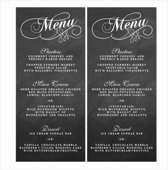Free Wedding Menu Templates Unique 36 Wedding Menu Templates Ai Psd Google Docs Apple